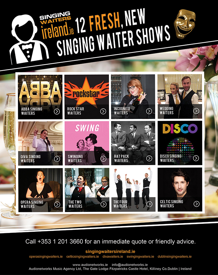 New_Singing_Waiter_Shows_Audio_Networks_Booking_Agency_Dublin
