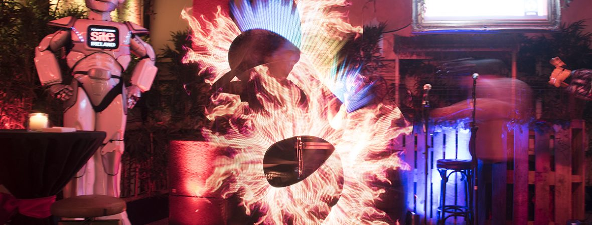 stunning digital fire art performances with www.irishcorporateentertainment.com